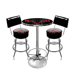 Trademark Global Hunt Skull Game Room Table & Bar Stool Set