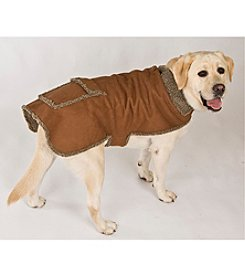 Carolina Pet Company Faux Suede & Tipped Berber Jacket