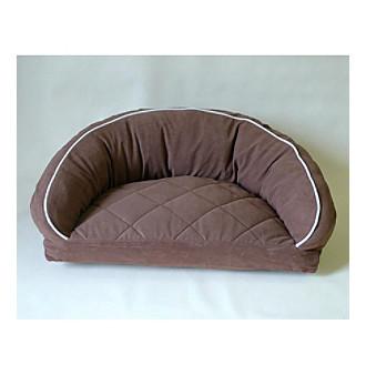 Carolina Pet Company Microfiber Semi-Circle Lounge Pet Bed