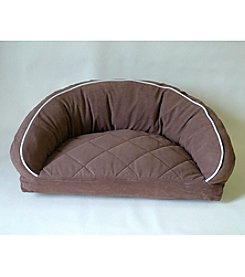 Carolina Pet Company Microfiber Semi-Circle Lounge Pet Bed