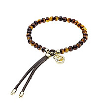 Michael Kors® Tortoise Acetate Beaded Stretch Bracelet