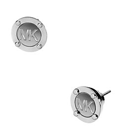 Michael Kors® Silvertone Astor Stud Earrings