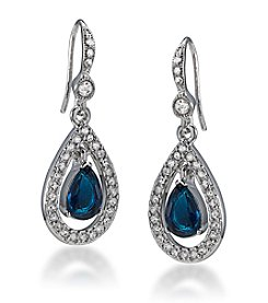 Carolee® Simply Blue Crystal Teardrop Earrings