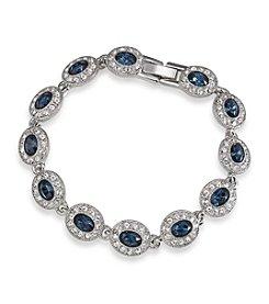 Carolee® Simply Blue Silvertone Crystal Bracelet