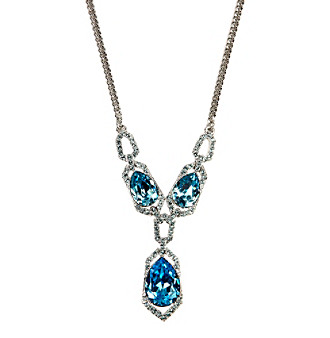 Givenchy® Imitation Rhodium/Aqua Y Necklace