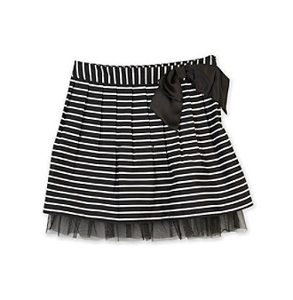 Amy Byer Girls' 7-16 Black Striped Skirt
