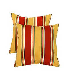 Greendale Home Fashions Set of Two Carnival Stripe Outdoor Accent Pillows