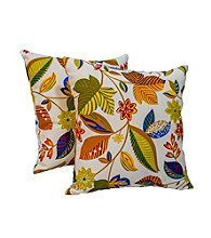Greendale Home Fashions Set of 2 Esprit Print Outdoor Accent Pillows