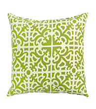 Greendale Home Fashions Set of 2 Grass Print Outdoor Accent Pillows