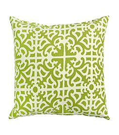 Greendale Home Fashions Set of Two Grass Print Outdoor Accent Pillows