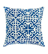Greendale Home Fashions Set of 2 Indigo Print Outdoor Accent Pillows