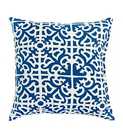 Greendale Home Fashions Set of Two Indigo Print Outdoor Accent Pillows