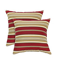 Greendale Home Fashions Set of 2 Roma Stripe Accent Pillows