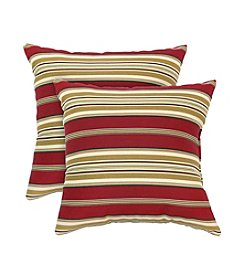 Greendale Home Fashions Set of Two Roma Stripe Accent Pillows