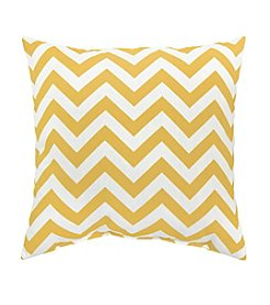 Greendale Home Fashions Set of Two Yellow Zig Zag Print Accent Pillows