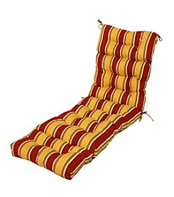 "Greendale Home Fashions 72"" Carnival Stripe Outdoor Chaise Lounger Cushion"