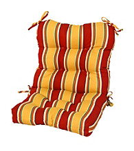 Greendale Home Fashions Carnival Stripe Outdoor High Back Chair Cushion