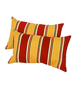 Greendale Home Fashions Set of Two Carnival Stripe Rectangle Outdoor Accent Pillows