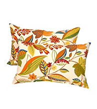 Greendale Home Fashions Set of 2 Esporot Rectangle Outdoor Accent Pillows
