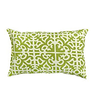 Greendale Home Fashions Set of 2 Grass Print Rectangular Outdoor Accent Pillows