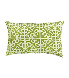 Greendale Home Fashions Set of Two Grass Print Rectangular Outdoor Accent Pillows