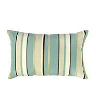 Greendale Home Fashions Set of 2 Spa Stripe Rectangle Outdoor Accent Pillows
