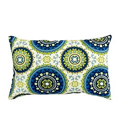 Greendale Home Fashions Set of Two Summer Print Rectangle Outdoor Accent Pillows