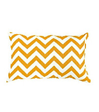Greendale Home Fashions Set of 2 Yellow Zig Zag Print Rectangle Outdoor Accent Pillows
