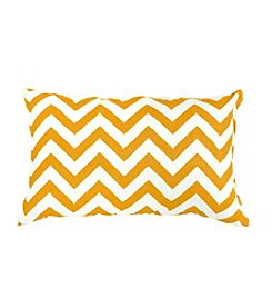 Greendale Home Fashions Set of Two Yellow Zig Zag Print Rectangle Outdoor Accent Pillows