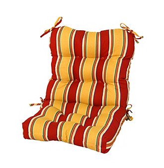 Greendale Home Fashions Carnival Stripe Outdoor Seat-Back Ch