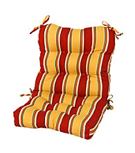 Greendale Home Fashions Carnival Stripe Outdoor Seat-Back Chair Cushion