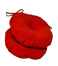 Greendale Home Fashions Set of 2 Round Outdoor Bistro Chair Cushion