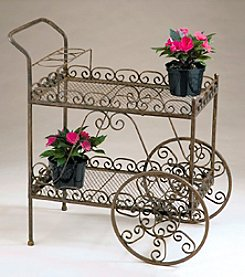 Metal Rolling Tea Cart