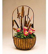 Metal Dragonfly Wall Basket with Liner