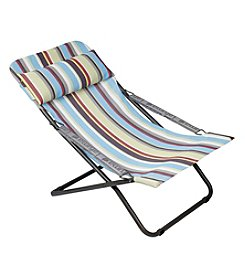 Striped Mesh Fabric Folding Reclining Chair
