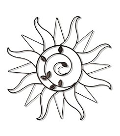 "34""-dia. Dark Bronze Sun Sprout Wall Piece"