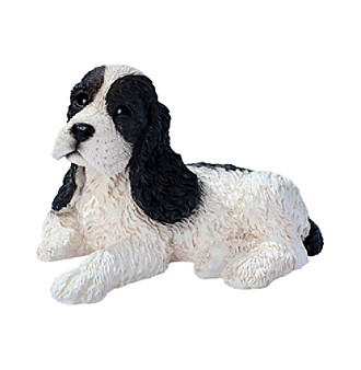 Black Cocker Spaniel Puppy Statue