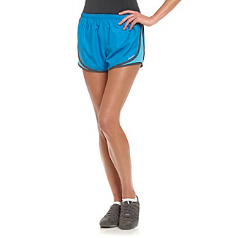 Calvin Klein Performance Woman's Diva Blue Embossed Running Short with Mesh Inserts
