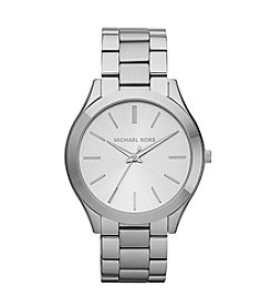 Michael Kors® Stainless Steel Shiny Silvertone Finish Watch