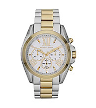 Michael Kors® Stainless Steel Shiny Silver and Goldtone Finish Watch