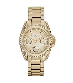 Michael Kors® Stainless Steel with Shiny Goldtone Finish Watch