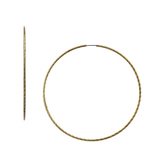 Jessica Simpson Goldtone Endless Hoop Earrings