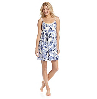 Zoe & Bella @ BT Pleated Chemise - Blue Rose Print