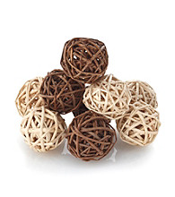 LivingQuarters Mini Wicker Spheres for Floral & Candle Arrangements