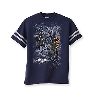 Batman® Dark Knight Rises Boys' 4-20 Navy Dark Knight Screen Tee