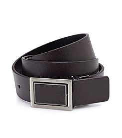 Calvin Klein Men's Reversible Brown Leather Belt