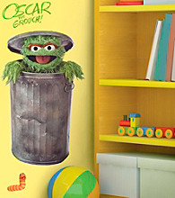 Oscar the Grouch Peel-and-Stick Giant Wall Decals
