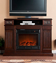 Holly & Martin™ Clifton Media Electric Fireplace-Espresso
