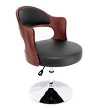 Lumisource® Cherry and Black Cello Chair