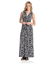 NY Collection Inspired Knot-Front Maxi Dress